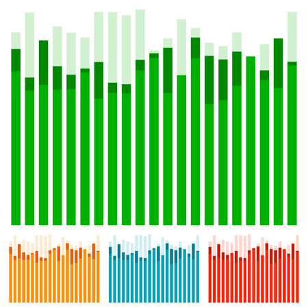 barchart: Eq, equalizer with overlapping bars - Bar chart, bar graph w random heights