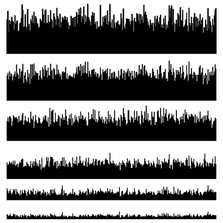 multi level: Eq  equalizer element templates. Set of 6 version. Music, sound effect, soundtrack, multimedia concepts. Illustration