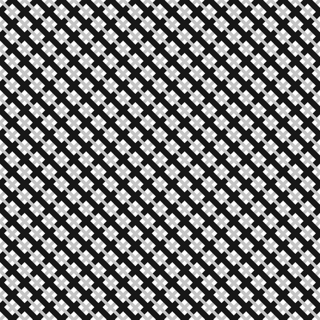 reticular: Grid, mesh pattern with interlacing lines. Cross, X pattern. Seamlessly repeatable.