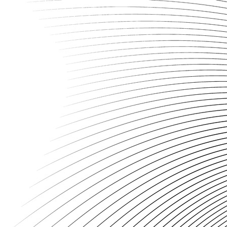 radiating: Thin dynamic curved lines monochrome geometric pattern