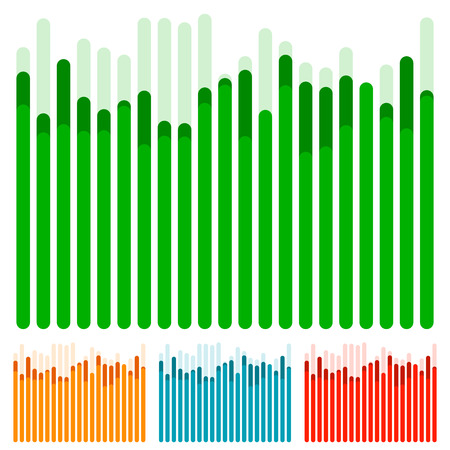 Eq, equalizer with overlapping bars - Bar chart, bar graph w random heights