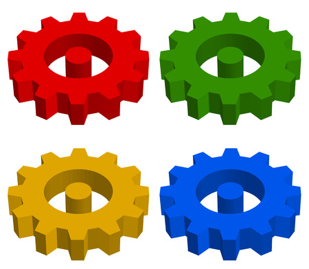 developement: Gearwheel, rack wheel, gear icon, sign. Service, development, manufacturing, settings concepts.