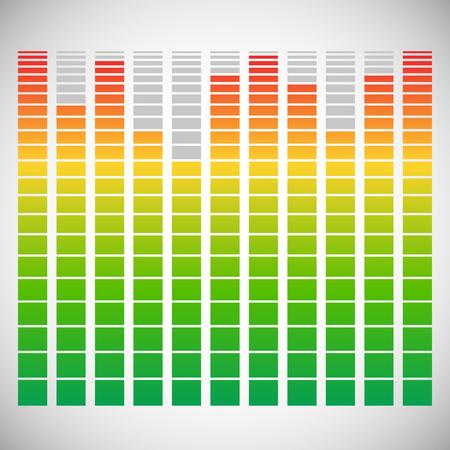 soundtrack: Eq, equalizer element for music related design Illustration