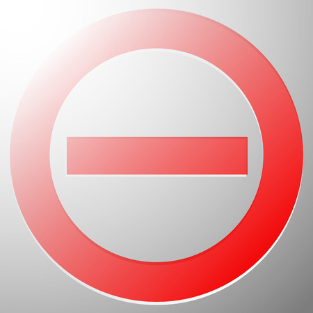 rejection: Red prohibition, restriction sign - Rejection, closed, no entrance, stop sign, icon