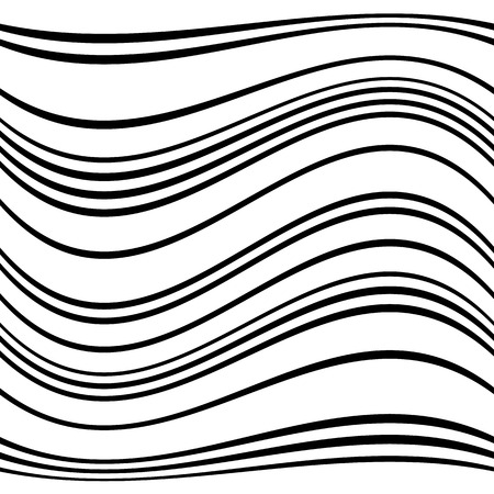 flexure: Geometric lines pattern with distortion. abstract non-figural illustration