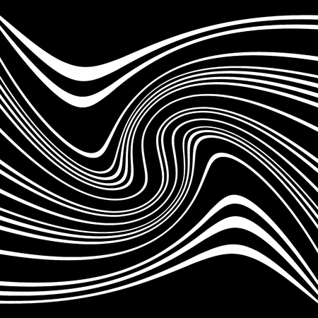 flexion: Geometric lines pattern with distortion. abstract non-figural illustration