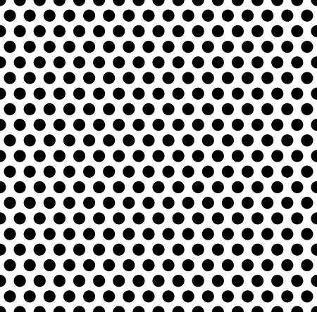 ドット、シームレスに繰り返しパターンを一周します。まだら、ハーフトーン スタイルで白黒の抽象的なイラスト。幾何学的な点描のテクスチャで