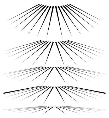 3 point perspective: Geometric 3d line elements in different level of perspective
