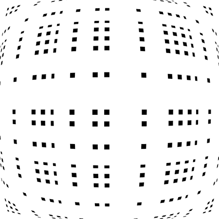 camber: Grid, mesh of distorted lines. Geometric monochrome texture.