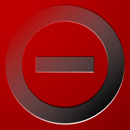 negation: Red prohibition, restriction sign - Rejection, closed, no entrance, stop sign, icon