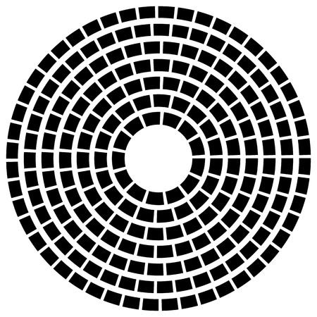 circling: Concentric dashed line circles - Abstract geometric element on white Illustration