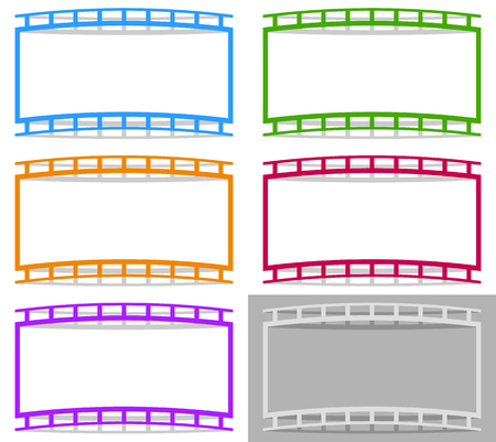 perforation tape: Film strip shape elements with distortion for photography  generic image concepts