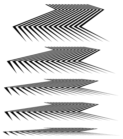 monocrome: Geometric 3d line elements in different level of perspective