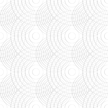 Cellular pattern with thin lines of circles. (Repeatable subtle texture) Illustration