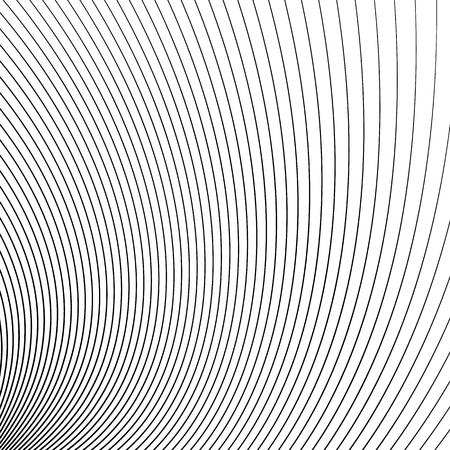 distort: Thin dynamic curved lines monochrome geometric pattern