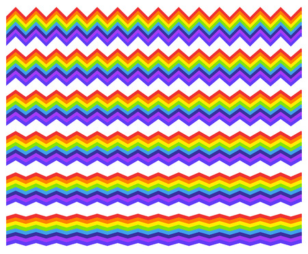 deform: Horizontal rainbow element with different level of distortion