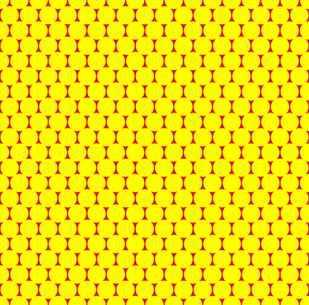 polkadots: Dotted repeatable popart like duotone pattern. Speckled red yellow pointillist background. Seamlessly repeatable. Illustration