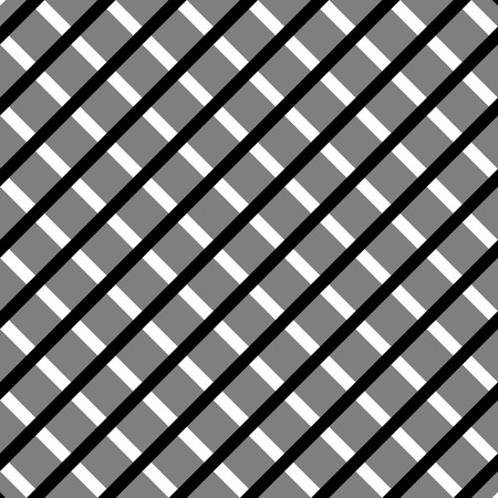 reticular: Cellular, grid seamless black and white pattern Illustration