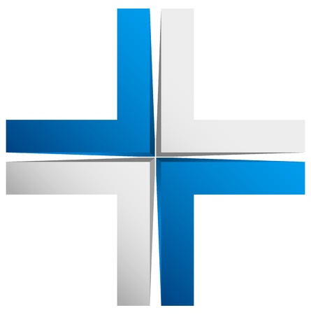 x marks the spot: Bright cross, X sign, icon - Generic 3d design element
