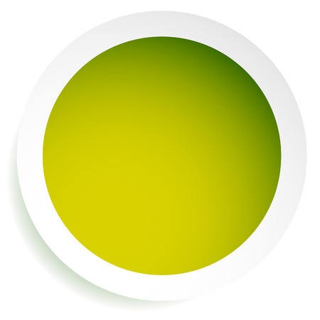 Bright orb, sphere, circle background with blank space. Monochrome circle icon.