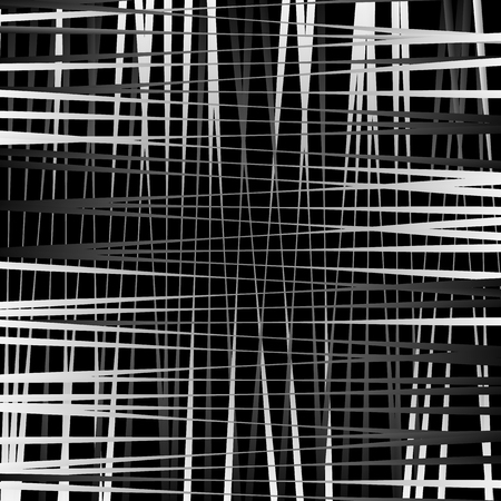 grillage: Irregular mesh, grid with random lines. Abstract geometric texture.