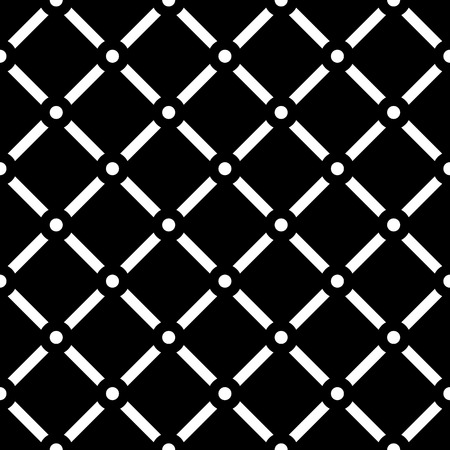 nodes: Dotted grid mesh pattern. Squares with circle nodes. (Seamless, repeatable) Illustration