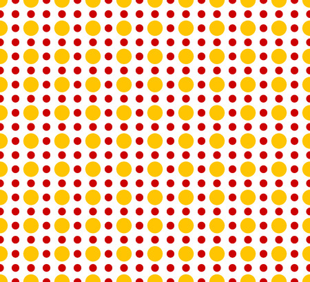 duotone: Circles pattern - Basic duotone, red-yellow repeatable pattern