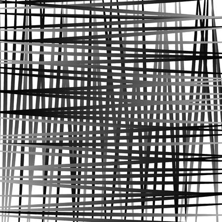Irregular mesh, grid with random lines. Abstract geometric texture. Vector Illustration