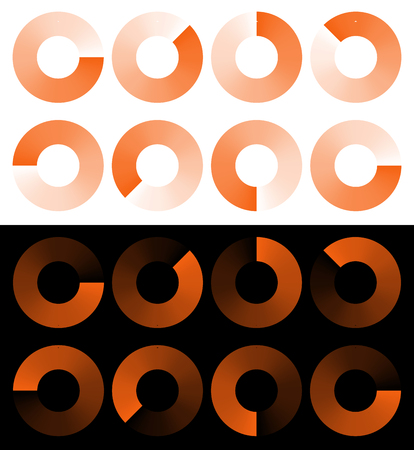 buffer: Preloaders, progress, phase indicators, buffer symbols with transparency