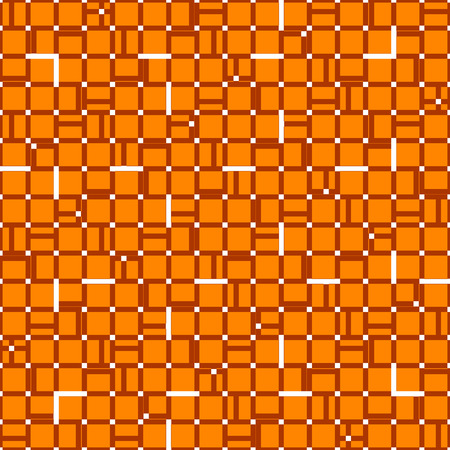 duotone: Irregular grid mesh with squares. Seamlessly repeatable duotone geometric pattern.