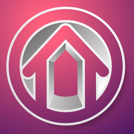 Contour house  building symbol, icon