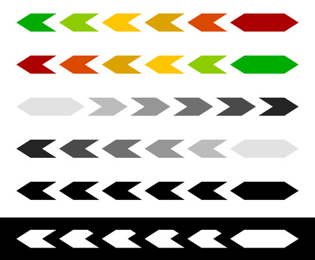 benchmark: Progress  loading bar, step, stage indicators with hexagons Illustration