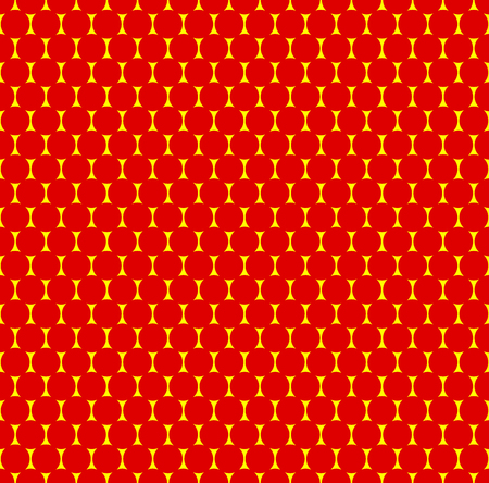 duo: Dotted repeatable popart like duotone pattern. Speckled red yellow pointillist background. Seamlessly repeatable. Illustration
