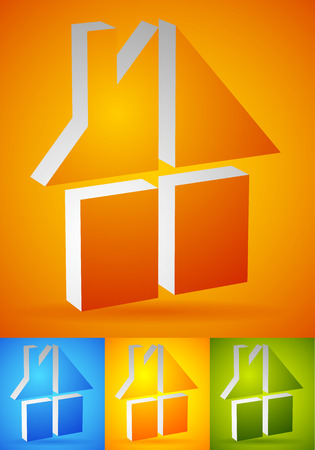 Colorful home, house icon(s),  (s) to illustrate real estate, construction or related concepts