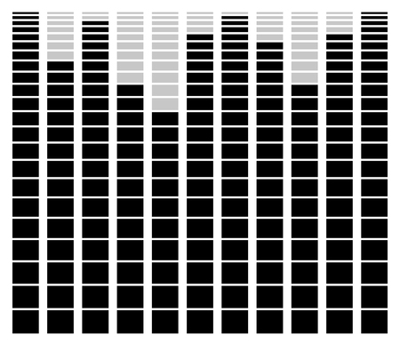 benchmark: Eq, equalizer element for music related design Illustration