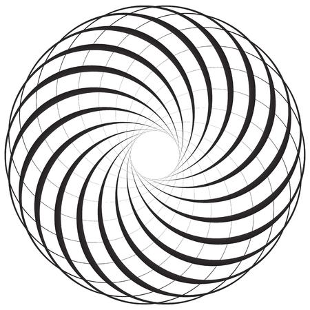 Circular geometric motif, element, Concentric circles abstract shape.
