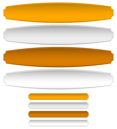 gold silver bronze: Gold, silver, bronze metal plaques, banners. Distortion and normal version