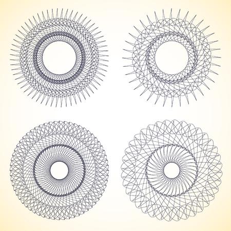 expanding: Set of geometric circle elements