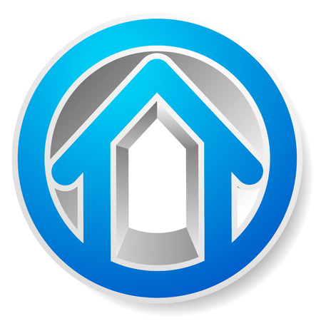 Contour house  building symbol, icon
