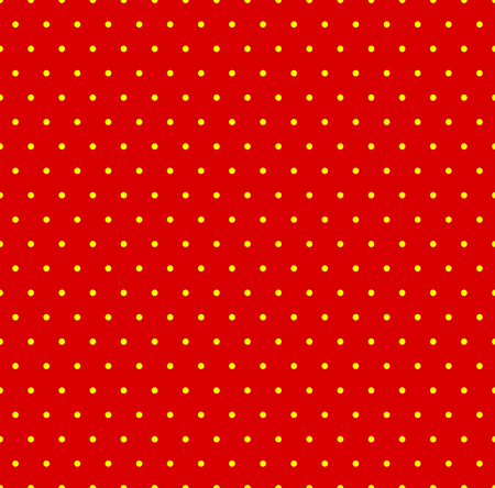 Dotted repeatable popart like duotone pattern. Speckled red yellow pointillist background. Seamlessly repeatable. Illustration