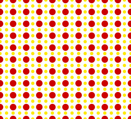 basic: Circles pattern - Basic duotone, red-yellow repeatable pattern