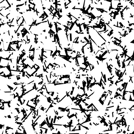 scratchy: Scratchy rough chaotic texture with irregular random overlapping shapes Illustration