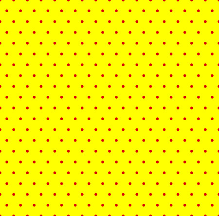 duo tone: Dotted repeatable popart like duotone pattern. Speckled red yellow pointillist background. Seamlessly repeatable. Illustration