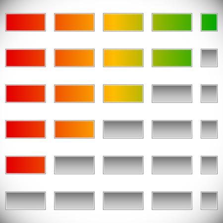 5-Schritt-Fortschritt, Schritt Indikatoren. (Swap-Farben leicht)