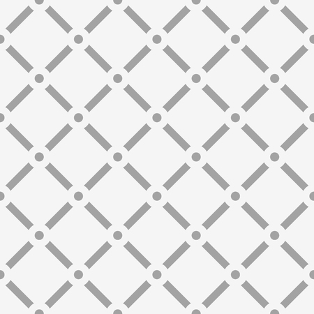 reticular: Dotted grid mesh pattern. Squares with circle nodes. (Seamless, repeatable) Illustration