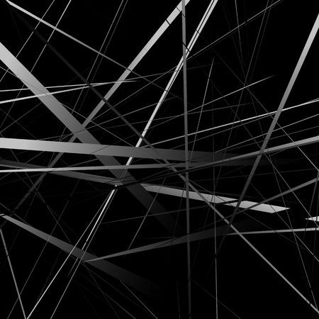 intersecting: Geometric art random intersecting lines. Asymmetric irregular lines pattern.
