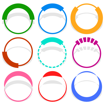 increments: 9 circular segmented circle preloader user interface - UI elements