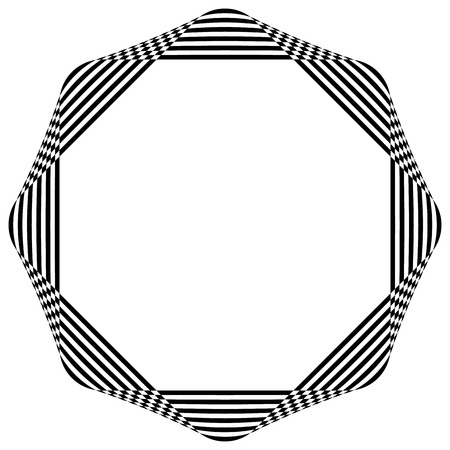 basic figure: Abstract striped geometric element isolated on white
