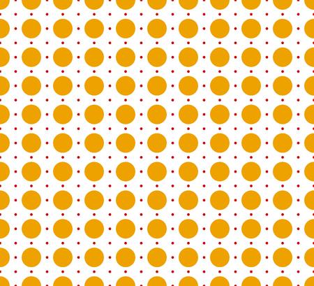 circles pattern: Circles pattern - Basic duotone, red-yellow repeatable pattern