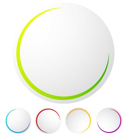 preloader: Circular preloader  progress indicator at 5 stages with different colors Illustration